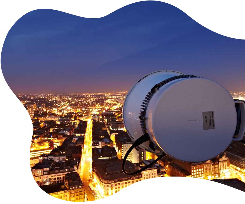London wireless leased line dish